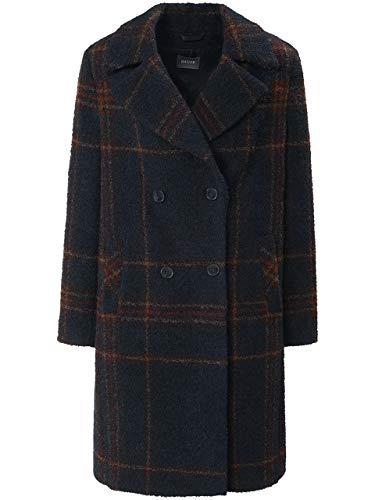 Basler Damen Mantel mit Reverskragen und Tartan-Muster