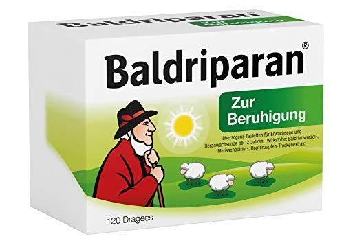 Baldriparan Zur Beruhigung – Pflanzliches Arzneimittel mit Baldrianwurzel-Trockenextrakt – Bewährte Dragees bei Unruhezuständen und nervös bedingten Einschlafstörungen – 120 St.