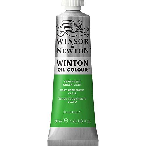 Winsor & Newton Winton Oil Color Paint, 37-ml Tube, Permanent Green Light
