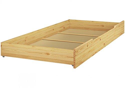Erst-Holz® Staubettkasten für unsere Etagenbetten 80x190 - Kiefer Natur - 90.10-S11