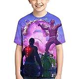 Travis Scott Kids Casual T-Shirts Summer Tops Tee Shirts for Boys Girls Black2-L