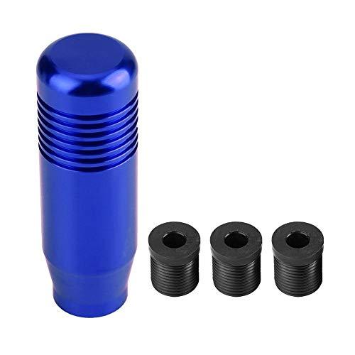 Pomo de cambio de marchas, 8,5 cm Aleación de aluminio Coche Pomo de cambio de marchas manual Mango Cabeza de cambio(Azul)