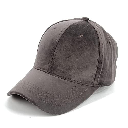 Gorra de béisbol Otoño Invierno Gorras de Gamuza de Color sólido Moda Casual Sombrero Hombres Mujeres Deportes al Aire Libre Gorra para Correr Sombrero Ajustable