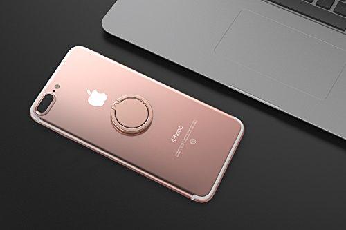 Kronya® | 360° drehbarer Smartphone Fingerhalter | Case Finger Griff Halter Halterung Handy Hülle Ring Ringhalter Ständer Tablet | Kompatibel mit Apple iPhone iPad Samsung Galaxy | 4 (Roségold)