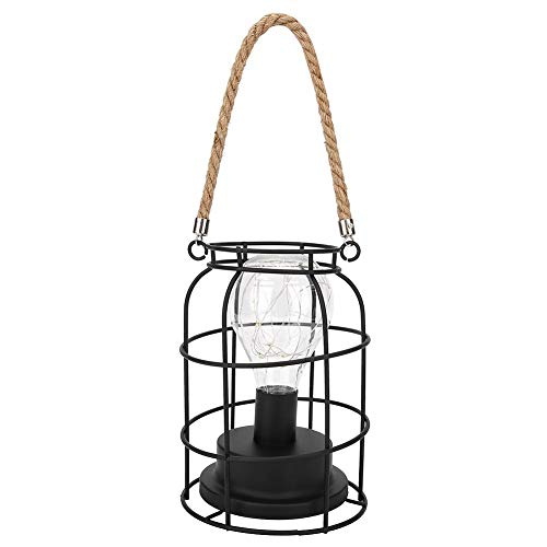 Fdit huishouden eenvoudige stijl ijzeren tafellamp slaapkamer desktop decoratieve batterij licht met lanyard voor home party winkel decoratie MEERWEG AANBIEDING