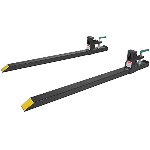 Clamp on LW Pallet Forks 1500 lb for bucket loaders tractors or skid steers (COF-LW)
