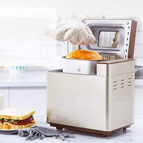 MISLD Automatische Brotmaschine Glutenfrei Menü Brot-Maschine 13 Preset Anfänger Funktionen Schnell Bäckerei Brotmaschine Backen Freundlich Brot-Maschine