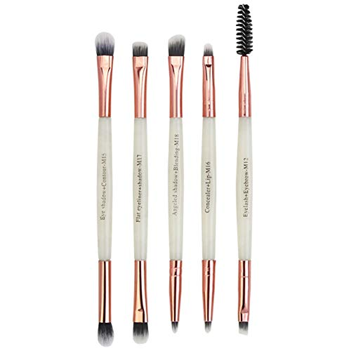 5pcs pinceau de maquillage pour les yeux pinceau fard à paupières tache pinceau double extrémité pinceau cosmétique outil de maquillage