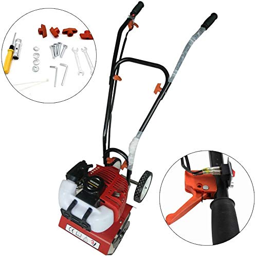 Benzin Gartenfräse Motorhacke [1,6kw 2 PS / 3080 RPM] Kultivator, Gartenhacke Bodenhacke – Perfekt zum...