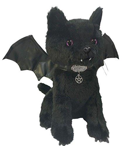 Dak Dreams Gothic süße Katze Fledermaus Vampir Plüsch Kuscheltier Flügel Vampirzähne