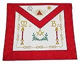 Desconocido Marca Mandil de Venerable Maestro Mason, Masoneria REAA, con bolsillo en el verso, Masoneria, Masonico, Francmasonería, Freemason, delantales, Mandiles