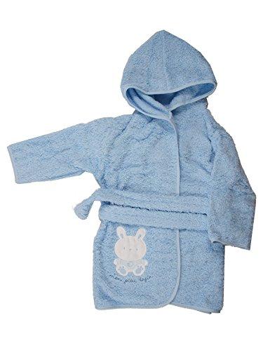 Albornoz de bebé de rizo azul