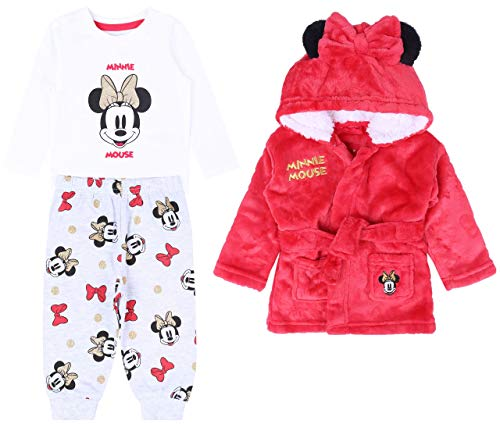 -:- Minnie Mouse -:- Disney -:- Pyjama + Peignoir Rouge 9-12 Mois