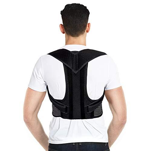 Posture Corrector for Men, Back Support Back Brace Upper Back Posture Correction with Adjustable Waist Belt and Shoulder Straps for Women Teenagers, Improve Posture and Relieve Back Pain (XXL)