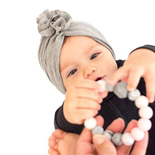 junengSO Süße Neugeborene Kinder Baby Mädchen Turban Blumenkopf Wrap Verstellbare Indien Hut Bonnet Beanie Hüte