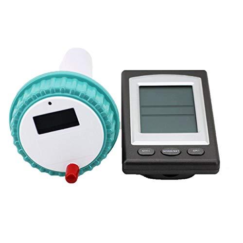 Relabouting Professionelles, kabelloses, digitales SPA-Schwimm-Thermometer für Schwimmbecken im Innen- und Außenbereich. Whirlpool-Thermometer