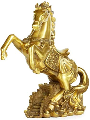 LULUDP-Decoración Regalos de la decoración del hogar artesanía caballos Estatua Chinese ornaments Figurita Decoración Esculturas prosperidad figuras de animales Suerte Riqueza Símbolo y decoración Man