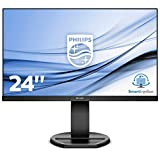 "Philips Monitor 241B8QJEB, 24"", LED IPS, FHD, 3 Side Frameless, Regolabile Ergonomicamente, HUB USB, Casse Audio Integrate, Display Port, DVI, HDMI, VGA, Vesa, Nero"