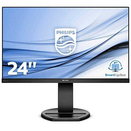 "Philips Monitor 241B8QJEB, 24"", LED IPS, FHD, 3 Side Frameless, Regolabile Ergonomicamente, HUB USB, Casse Audio Integrate, Display Port, DVI, HDMI, VGA, Vesa, Nero"