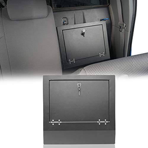 Hooke Road Tacoma Lockbox Storage Driver Side Seat Security Cubby Cover Compatible with Toyota Tacoma Double Cab 2005 2006 2007 2008 2009 2010 2011 2012 2013 2014 2015