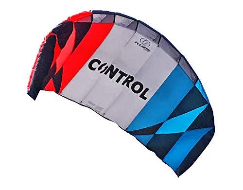 Flexifoil 1.7m2 / 2,4 m2 / 3.3M2 Control 3-line Kitesurf Trainer Kite wie Balken-, Linien- und Quick Release Sicherheitssystem mit 90 Tage Geld-zurück-Garantie! Durch Weltrekord Power Kite- und Kitesurf Designer - Sichere, zuverlässige und langlebige Power Kite, Kitesurf Schulung und einführende Traktion Kiten (2.4m2)