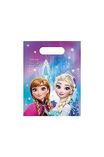 Procos 86918 Partytüten, Disney Frozen Mitgebsel-Anna/Elsa (6-er Pack)