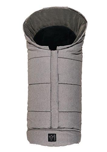 Kaiser Sheepy–Saco de abrigo multifunción, diseño con incrustaciones de piel de cordero (color gris claro/antracita Melange, 65711323)