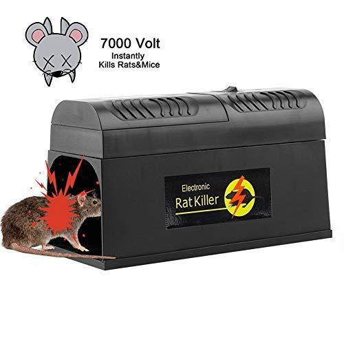 Weesey Elektronische Rattenfalle - Mäusefalle Professionelle Rattenköderstation Multi-Kill für Mäuse Kastenfalle für Garten Haus