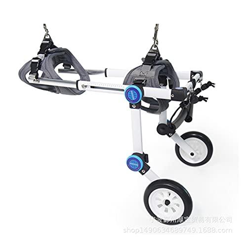 Silla de ruedas del animal doméstico de perro ajustable, silla de ruedas para las piernas posteriores ligeras 2 ruedas de ruedas para la silla de ruedas para la pierna trasera Rehabilitation