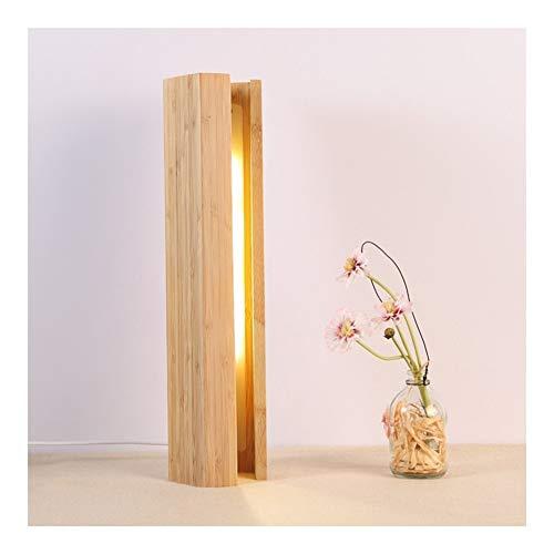TRPYA Creatief huis van hout voor slaapkamer, vijfhoekig, led-tafellamp voor hotel, restaurant, bamboe, decoratie klein nachtlampje