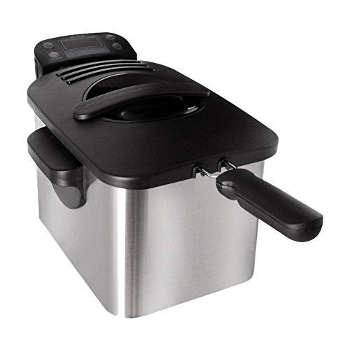 Inventum GF432 koude zones friteuse, 3 liter, 3000 watt, geborsteld roestvrij staal, zilver/zwart