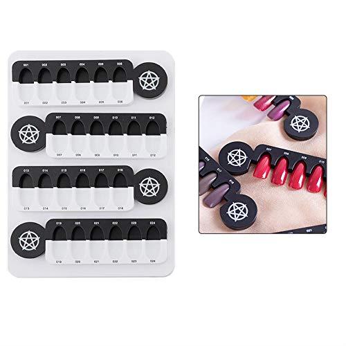 Nagelkleurenkaart, 24 roosters, uv-nagelweergave, magneetadsorptie, afneembare displayplank, voor een betere nagelervaring, beschikbare kleurenkaart, nageltipplaat. 1#
