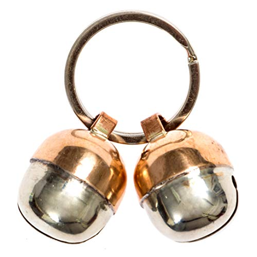 Beau's Bells 2 Extra Loud Cat & Dog Bells | Pet Tracker | Save Birds & Wildlife | Luxury Handmade Copper (Medium)