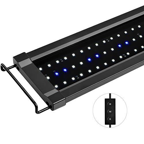 NICREW ClassicLED G2 Aquarium Beleuchtung, Steuerbar LED Lampe mit Mondlicht, IP67 Wasserdicht für Süßwasser-Aquarien, 75-95cm