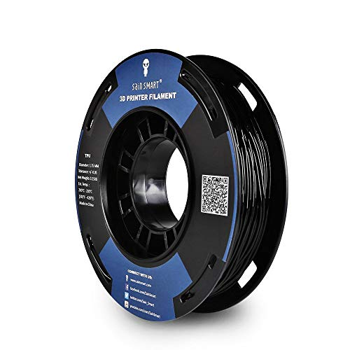 SainSmart Kleine Spule 1.75mm TPU Flexible 3D Filament 250g, Maßgenauigkeit +/- 0,05 mm, Shore 95A (Black)