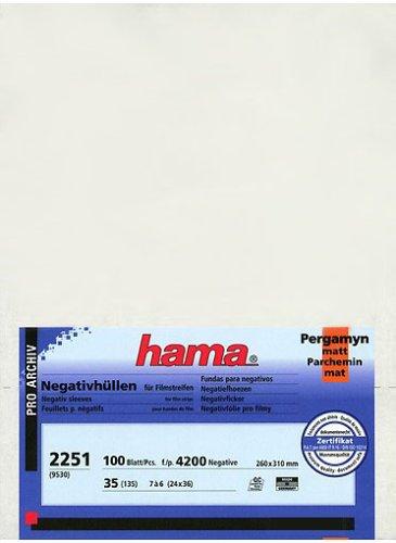 Hama Negativarchivierungshüllen (Pergamin, für je 7 Kleinbild-Streifen à 6 Bilder, 100 St.)