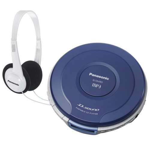 Panasonic SL-SX480A Portable CD Player, Blue