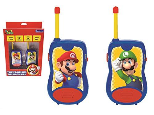 LEXIBOOK- Nintendo Super Mario Walkie-talkies, Pinza para Colgar del cinturón, batería, para...