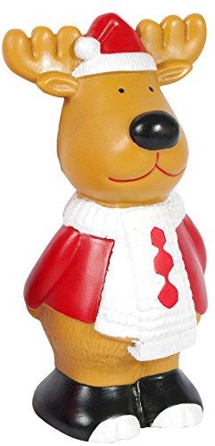 Pet Brands Christmas Reindeer Squeaky Dog Toy