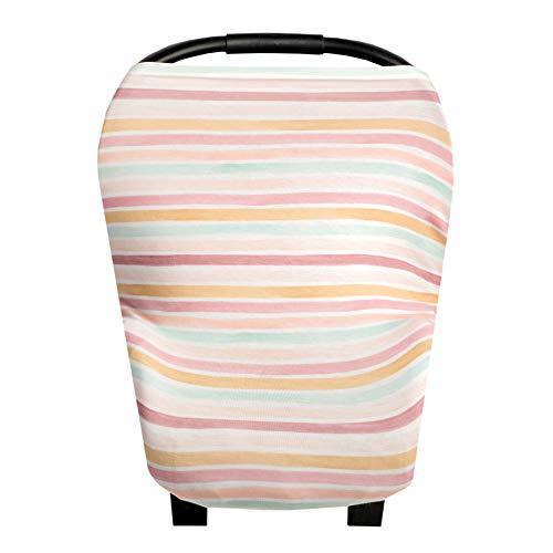 Baby Car Seat Cover Canopy and Nursing Cover Multi-Use Stretchy 5 in 1 Gift'Belle' by Copper Pearl