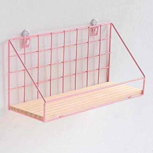 zhouweiwei Einfaches Design Eisen Wandregal Wandregal Organisation für Schlafzimmer Küche Wohnkultur Kinderzimmer Dekoration