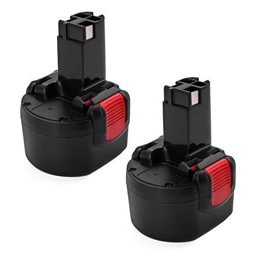Powerextra 2 stück Ersatzakku 9,6V 3,5Ah für Bosch PSR960 GSR9.6 2607335272 2607335461