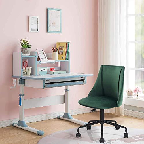 FurnitureR Silla de escritorio para computadora para niños, sillas de estudio para tareas con respaldo medio con ruedas de nailon,...