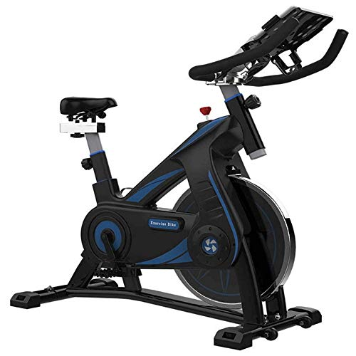 Hometrainer, Indoor Exercise Bike Cycling Spin Bike Cardio Workout W/Verstelbare Handlebars Seat, sluit u de hometrainer via de mobiele APP + Extension Cable