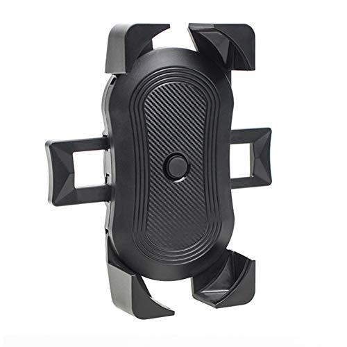 MCYAW Actualizar el Soporte del teléfono de la Bicicleta Motocicleta Bicicleta Smartphone Soporte Manillar Teléfono Celular Soporte para la mayoría del Soporte móvil (Color : Black)