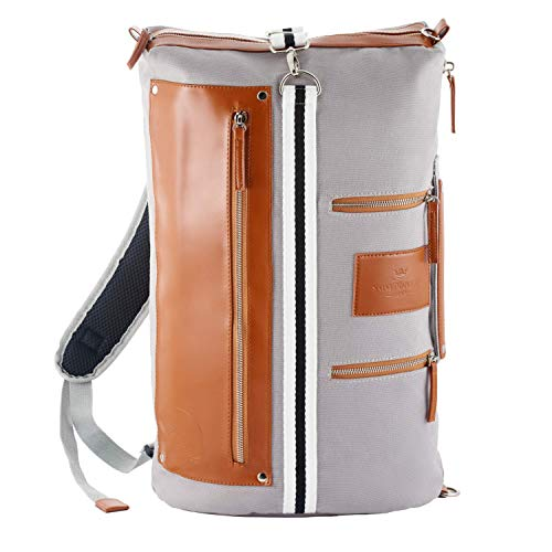 Saint Maniero Rucksack Damen Rucksack Herren Schulrucksack Mädchen Schulrucksack Jungen Laptop Backpack Tagesrucksack Daypack Laptoprucksack Uni Rucksack Uni Tasche Schultaschen (Grau)