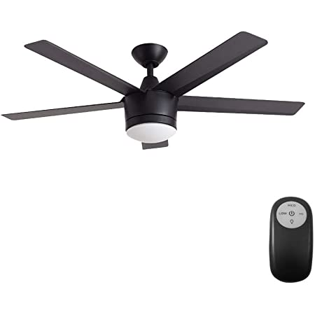Home Decorators Merwry 52 in Integrated LED Indoor Brushed Nickel Ceiling Fan