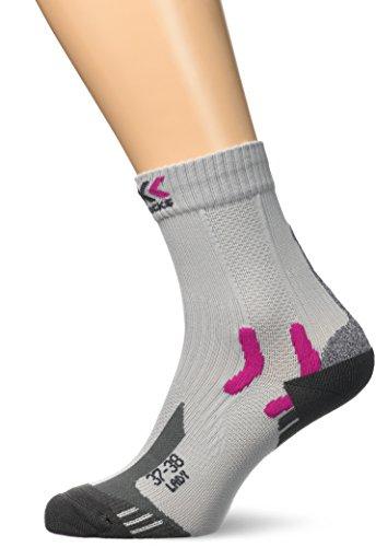 X-Socks - Trek Outdoor - Chaussettes - Femme -Gris (Gris/Fuchsia) - Taille: 39-40