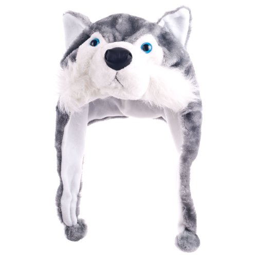 Critter Cap Plush Wolf Hat