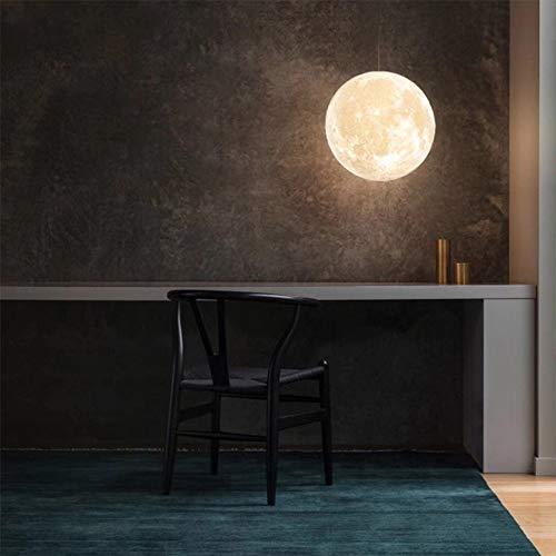 3D Lámpara De Luna Colgante, 16 Colores Luna Luz De Noche, Candelabro LED Luna Lámpara De Mesa, Control Remoto Niños Amante Cumpleaños Fiesta/Navidad Regalo,20cm